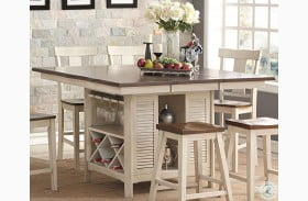 Heather Two Tone Extendable Island Table