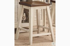 Heather Two Tone Counter Stool Set of 2