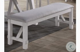 Maisie White And Brown Bench