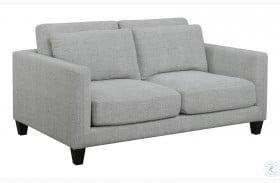 Light Grey Double Cushion Loveseat