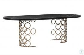 Valentina Brass Rectangular Dining Table