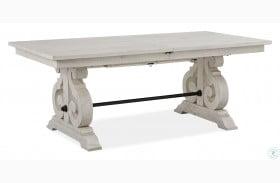 Bronwyn Chalk White Extendable Rectangular Dining Table