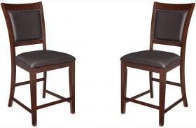 Collenburg Brown Upholstered Bar Stool Set of 2