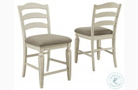 Realyn Chipped White Counter Height Stool Set Of 2
