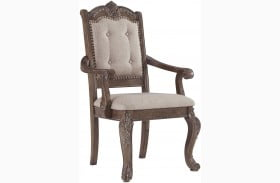 Charmond Brown Arm Chair Set Of 2