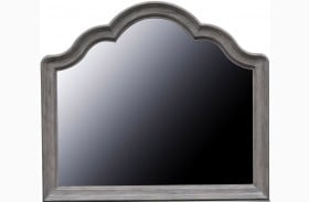 Simply Charming Warm Weathered Grey Landscape Mirror