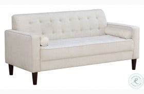 A858-680 Modern Cream Button Tufted Upholstered Sofa