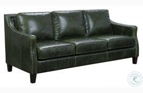 Miles Fescue Green Top Grain Leather Sofa