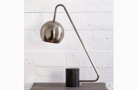 Camden Antique Pewter Alton Desk Lamp