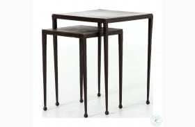 Marlow Antique Brown Dalston Nesting End Tables