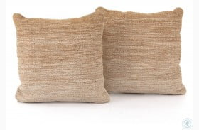 Nomad Flaxen Ombre Square Pillow Set Of 2