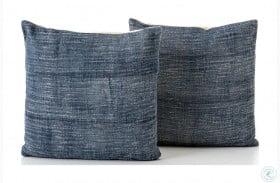 Willow Blue Haze Faded Pillow Set Of 2