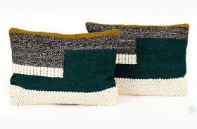 Willow Color Block Teal Color Block Rectangular Pillow Set Of 2