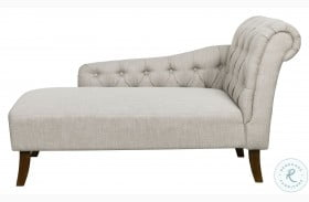 320-C147 Mist Gray Tufted Chesterfield Back Lounge Chaise
