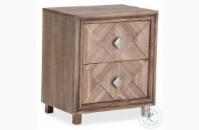 Hudson Ferry Driftwood 2 Drawer Nightstand