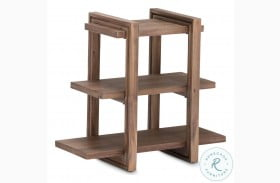 Hudson Ferry Driftwood Chairside Table