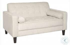 A858-681 Modern Cream Button Tufted Upholstered Loveseat