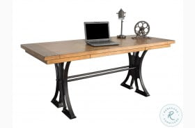 Toulouse Aged Ebony And Warm Honey Writing Desk
