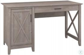 """Key West Washed Gray 54"""" Single Pedestal Desk"""