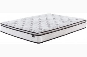 "Chime 10"" Bonnell Pillowtop White Queen Mattress with Foundation"