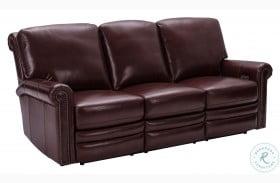 Grant Deep Merlot Red Leather Power Reclining Sofa