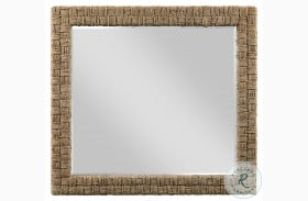 Modern Forge Light Stain Woven Mirror
