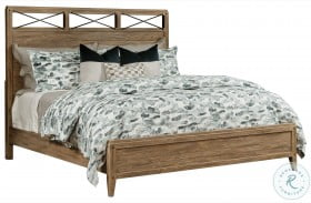 Modern Forge Light Stain Jackson Panel Bed