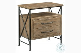 Modern Forge Light Stain Crockett 2 Drawer Nightstand
