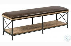 Modern Forge Light Stain Taylor Bed Bench