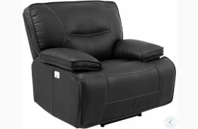 Spartacus Black Dual Power Recliner with Power Headrest