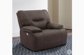Spartacus Chocolate Power Recliner with Power Headrest