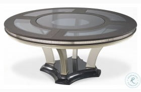 Hollywood Swank Caviar And Pearl Round Dining Table