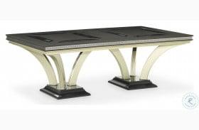 Hollywood Swank Caviar And Platinum Large Rectangular Dining Table