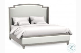 Artiste Glam Miles Powder Upholstered Panel Bed