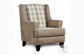 Northwest Paloma Grey And Beige Accent Chair
