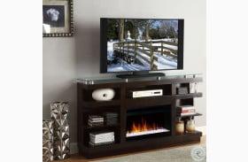 "Novella Dark Chocolate 65"" Fireplace Console"