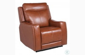 Natalia Caramel Leather Power Recliner