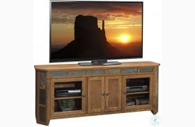 "Oak Creek Golden Oak 72"" Angled TV Console"