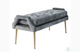 Eileen Grey Slub Velvet Bench