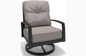 Castle Island Dark Brown Outdoor Swivel Lounge Chair