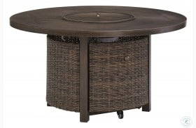 Paradise Trail Medium Brown Outdoor Round Fire Pit Table