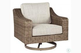 Beachcroft Beige Outdoor Swivel Lounge Chair