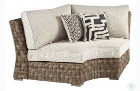 Beachcroft Beige Curved Corner Chair