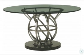 "Prossimo Silver Allora 54"" Round Dining Table"
