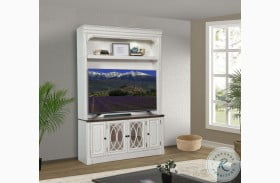 Provence Vintage Alabaster TV Console with Hutch