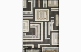 Juhani Black Large Rug
