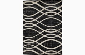 Avi Gray And White Large Rug
