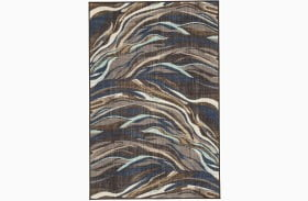 Jochebed Blue And Brown Medium Rug