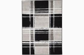 Ramy Black And White Medium Rug