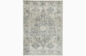 Precia Gray and Cream Large Rug